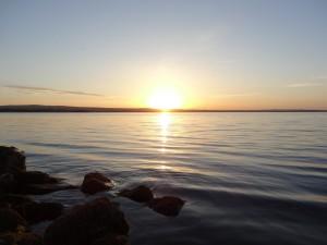 Couché de soleil sur le Lough Derg